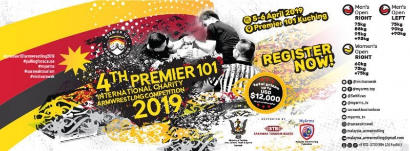 4th Premier 101 International Armwrestling Competition 2019